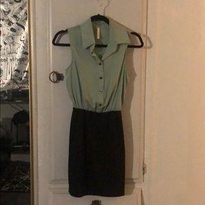 🍃MODCLOTH/My Story/ Mint & Black Combo Dress 🍃